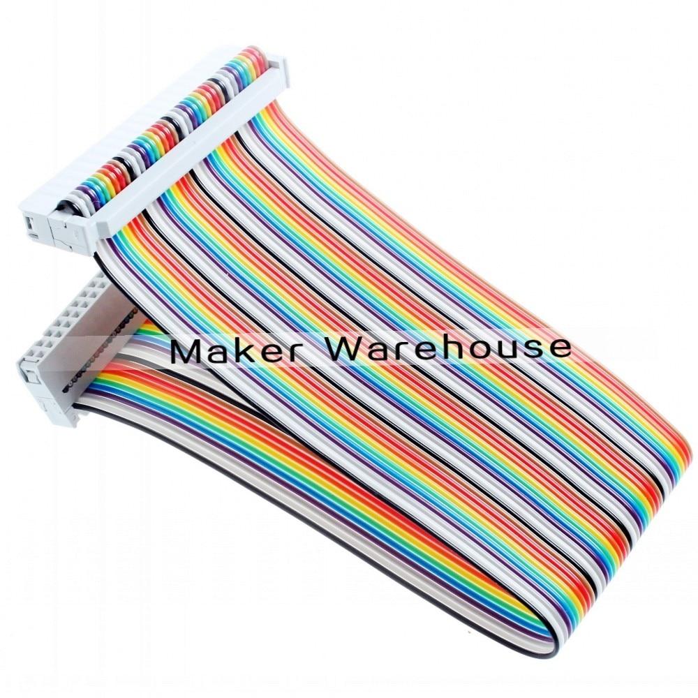 font b Pi b font Cobbler Plus Kit Breakout Cable GPIO 40PIN Cable for font