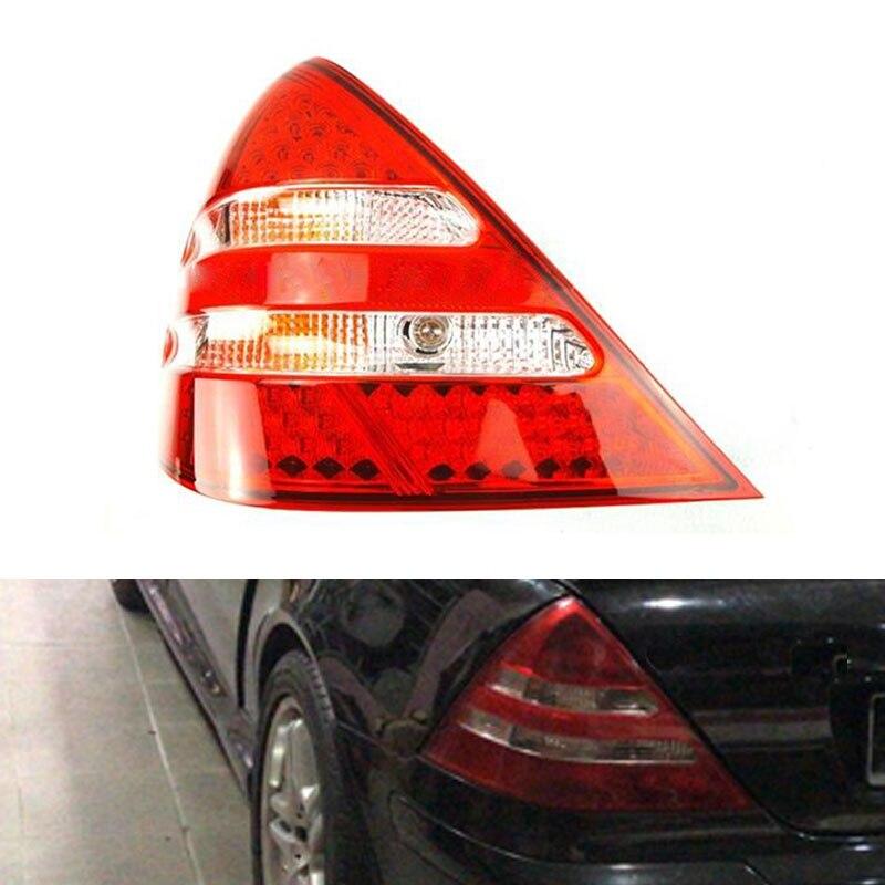 Clear Bumper White LED Light Bar Side Marker Light For 1998-04 Mercedes R170 SLK