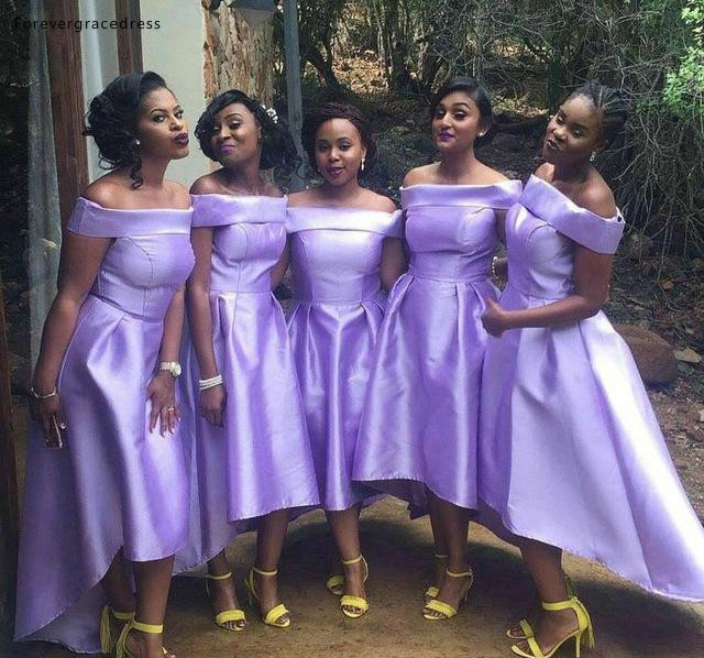 Nigeria South African   Bridesmaid     Dresses   2019 Summer Country Garden Formal Wedding Party Guest Maid of Honor Gowns Plus Size