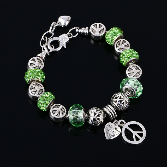 New Bracelets For Women Charm Peace Bangles Fashion Whole Jewelry