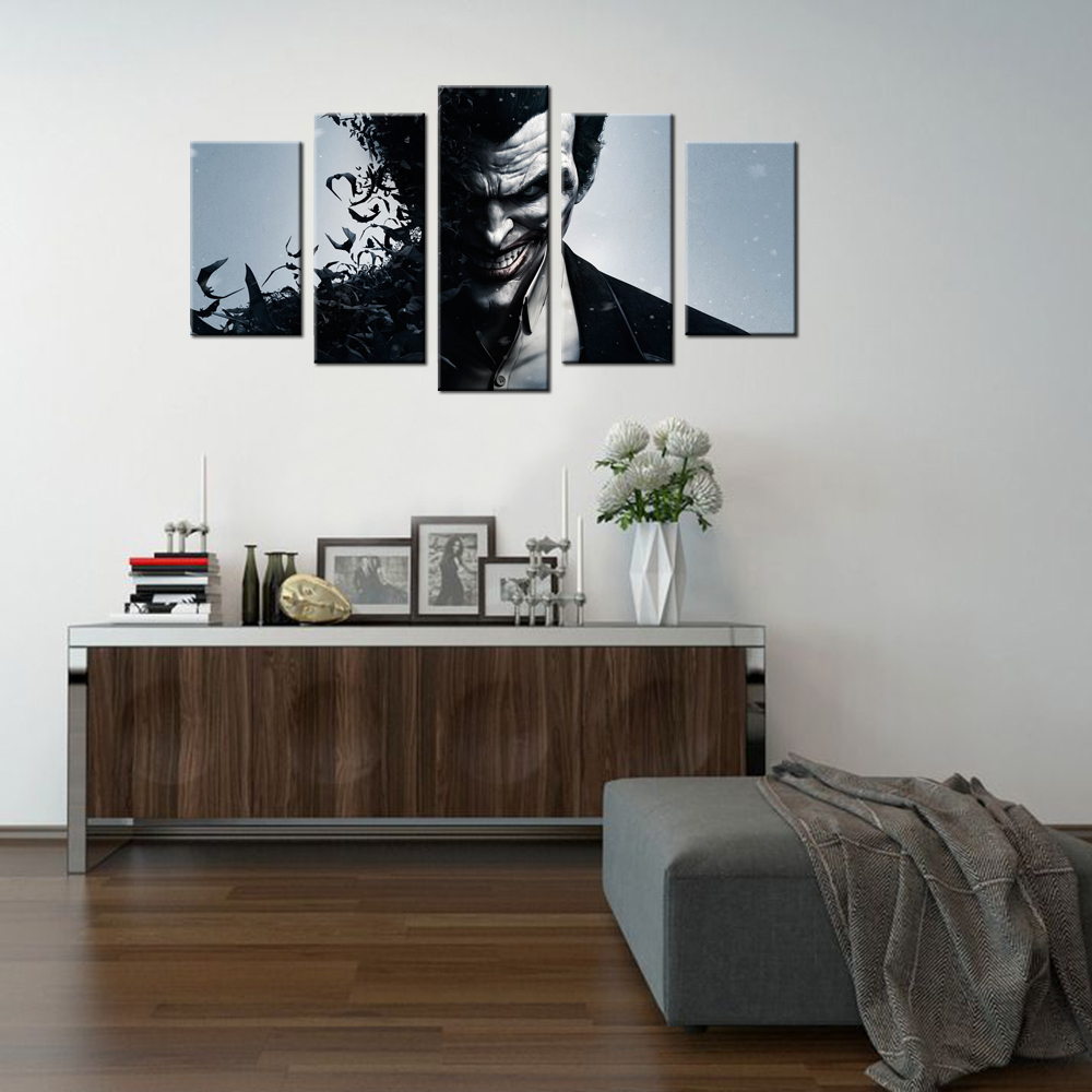 The joker batmans villain canvas custom prints painting the joker batmans villain canvas custom prints painting contemporary wall decor bedroom decorative wall pieces picture painting in painting calligraphy amipublicfo Choice Image