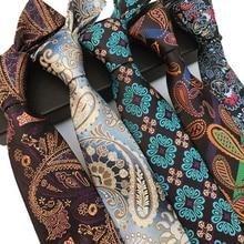 New Classic Silk Men Neck Ties 8cm Green Blue Gray Luxury for Formal Wear Business Suit Wedding Party Neckties Gravatas