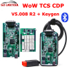 5Pcs Lot New V5 008 R2 WoW Snooper With Keygen Bluetooth OBD2 Diagnostic Tool Better
