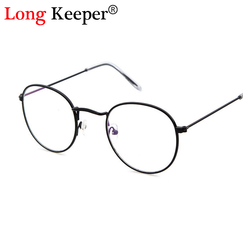Long Keeper Brand Latest fashion Women Men Round eyeglass frames Retro Glasses for women clear lens Eyewear oculos de grau 3447E