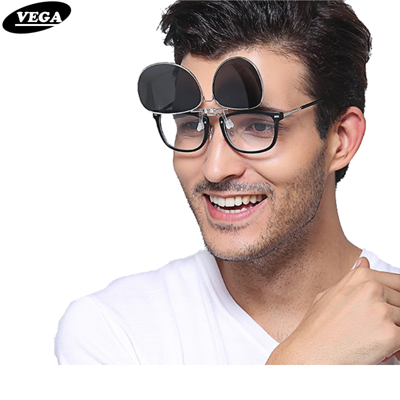 VEGA Polarized Clip On Sunglasses For Prescription Glasses Fit Over Glasses Sunglasses Women Men Clip On Sunglass B81
