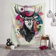 Nodic Print Deer Large Tapestry Wall Hanging Beach Towel Yoga Mat Picnic Blanket Table Cloth Bedspread Living Room Home Decor