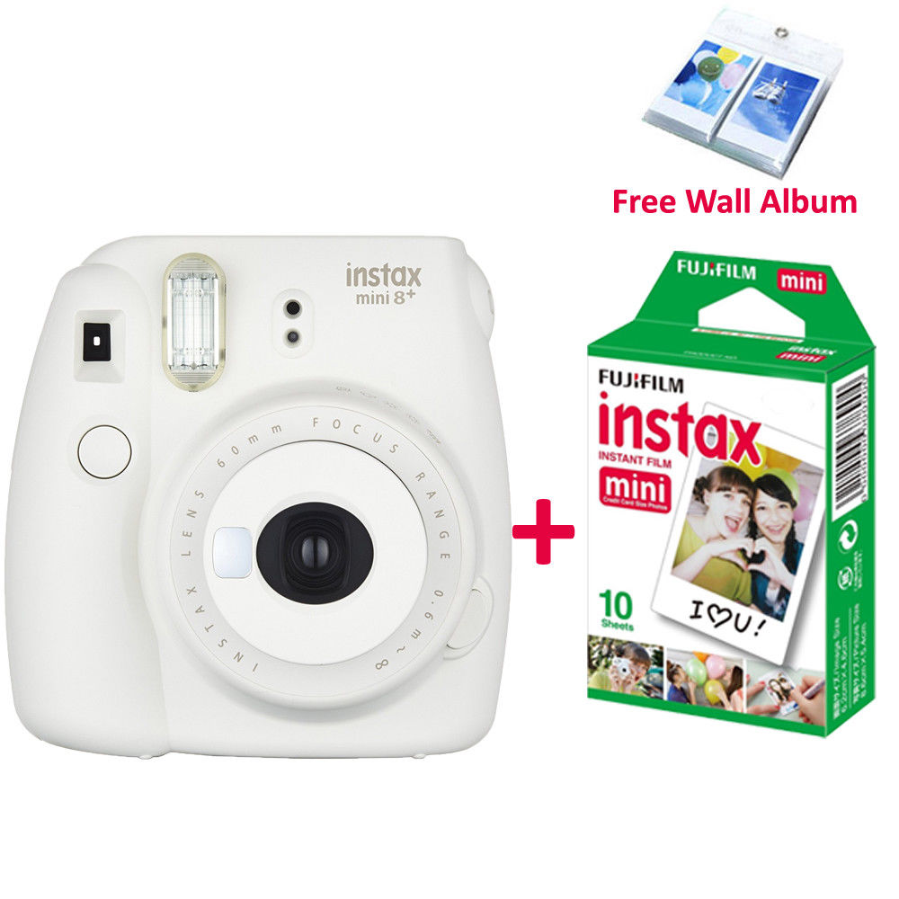 4 Colors Fujifilm Instax Mini 8 Plus Camera 10PCS Fuji White Film For Instant 9 70 25 Photo In From