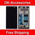 Black White Color For Sony Xperia C3 D2533 D2502 LCD Display+Touch Screen Digitizer+Frame Assembly 1PC/Lot