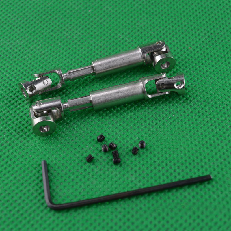 1Pair <font><b>HBX</b></font> <font><b>2098B</b></font> Drive Shaft 42-55mm Transmission Shafts 3mm Universal Joint Axle for 1/24 Mini Climbing Car <font><b>Parts</b></font> image