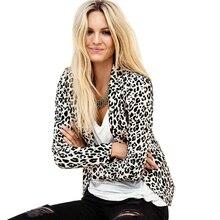 Nice Pop New Women Outerwear Fashion Feminino Short Full Blazer Print Slim Suit Basic Jacket  Full Sleeve Outerwear JT99