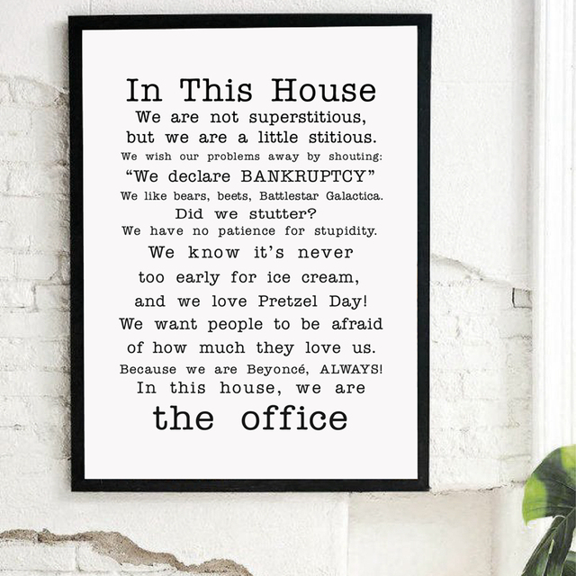 Aliexpresscom Buy Family Friendly Version Of The Office Quotes Tv