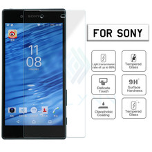 ON SALE Top Quality 0.26mm 9H hardness Tempered Glass film For Sony Xperia Z2 Z3 Z4 Z5 compact M4 M5 C3 C4 Screen Protector Film цена 2017