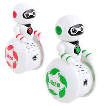 Baby Toys Tumbler Sound Light Intelligent Sensor Robot Music Rotation Electronic