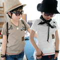 2016 Summer V-Neck Car Male Children'S Clothing Baby Child Boy Short-Sleeve T-Shirt