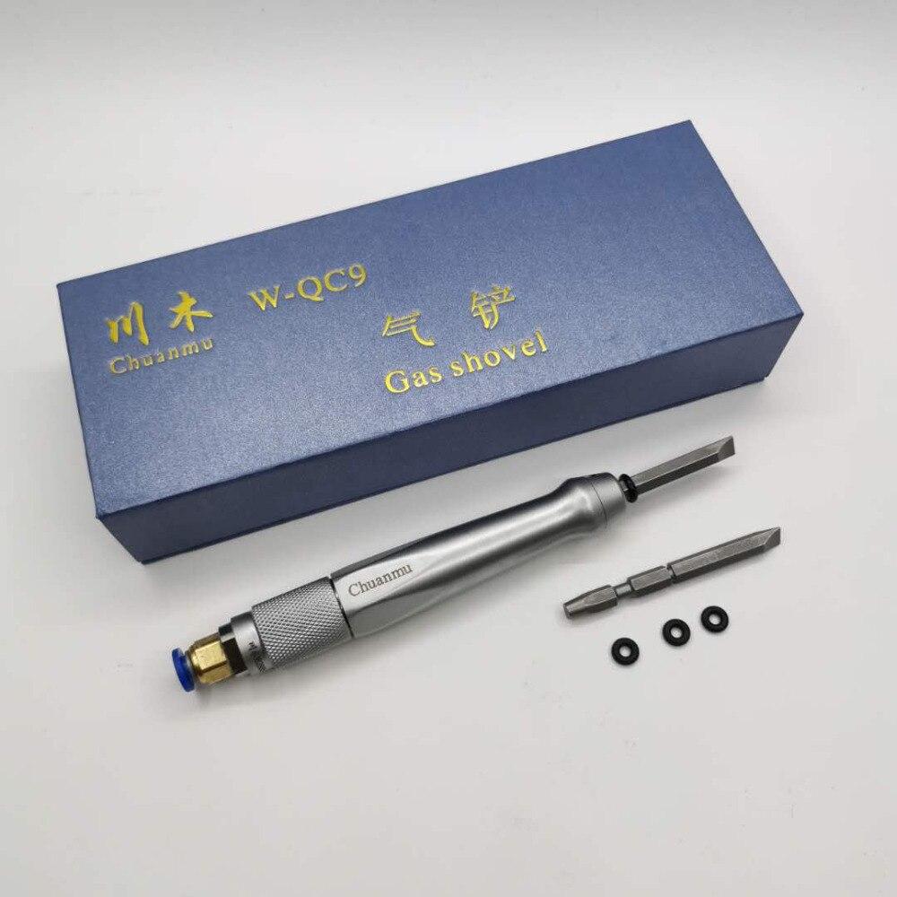 Laboratoire dentaire dentisterie pelle à gaz ciseau à air plâtre de gypse en bois couteau racloir pneumatique lame outil accessoires