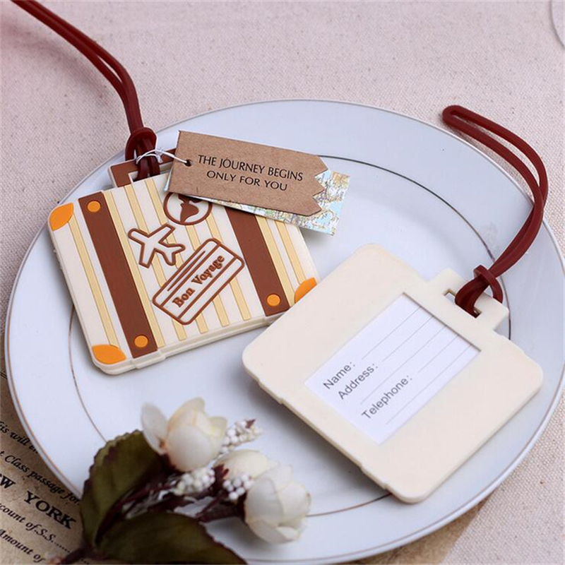 Fashion Design Airplane Luggage Tag Wedding Favors And
