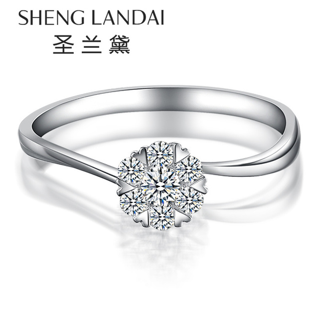 Christmas gift wedding anniversary birthday 18K gold diamond ring
