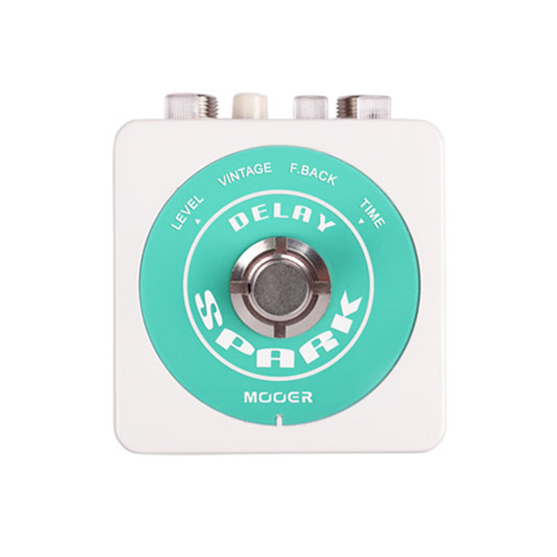 Mooer Spark Series Warm and Smooth Classic Analog 500 milliseconds Delay Effect Guitar Pedal True Bypass mooer ensemble queen bass chorus effect pedal mini guitar effects true bypass with free connector and footswitch topper