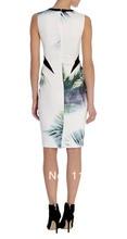 New Tropical Print Shift Dress Elegant Party Dresses DS176