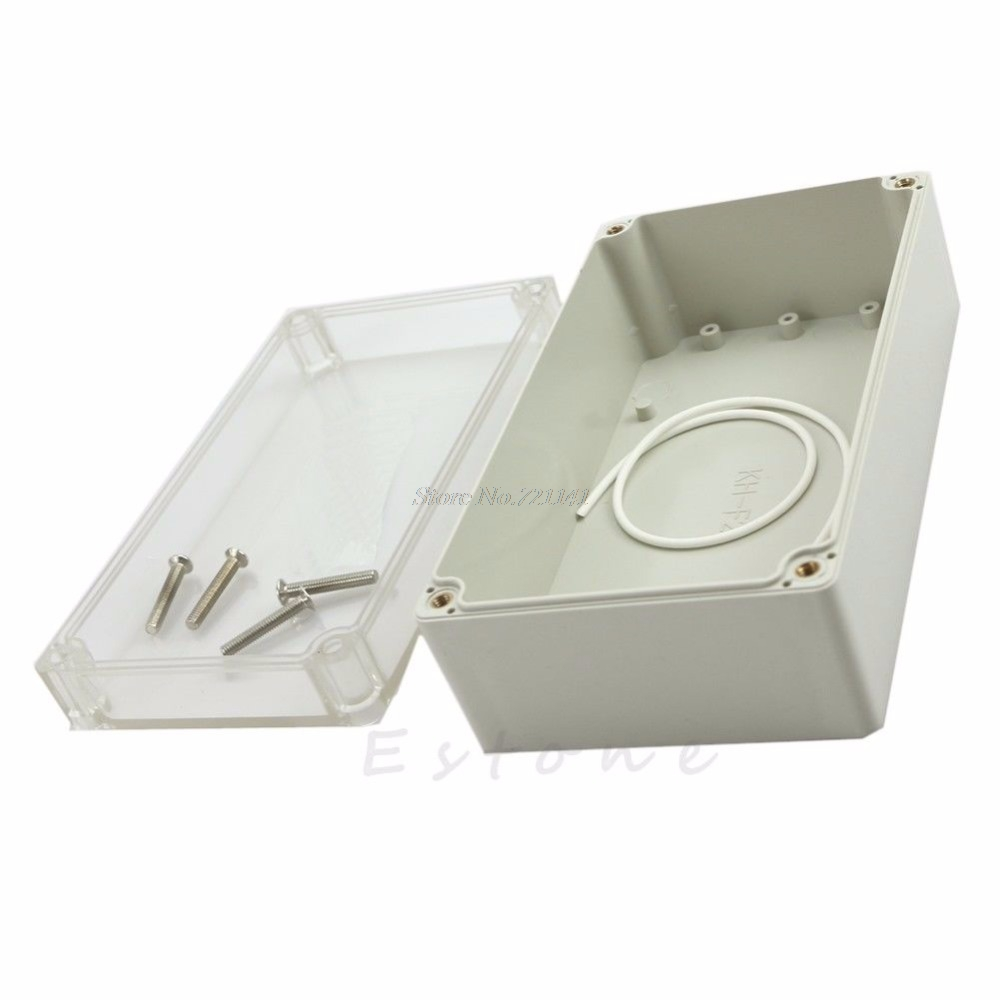 Waterproof Clear Electronic Project Box Enclosure Plastic Cover Case 158x90x60mm
