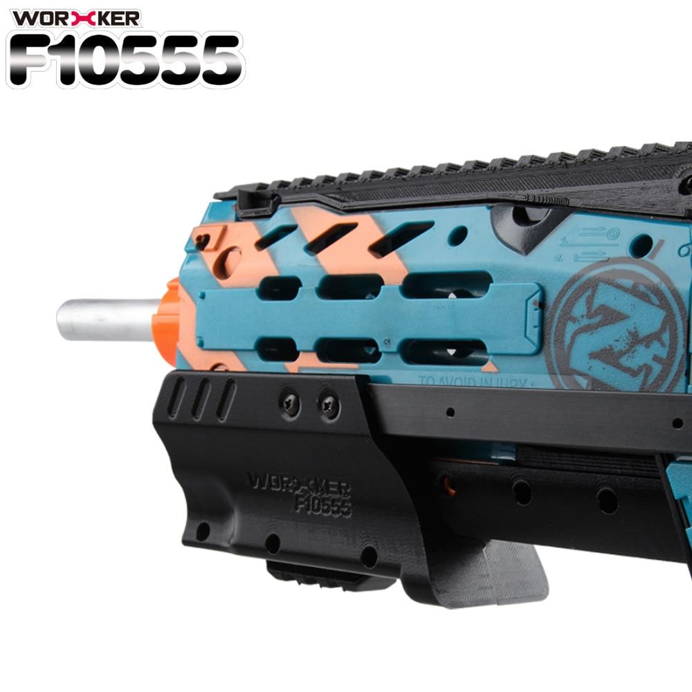 Trabalhador F10555 3D Impressão Top Rail Acessórios Do Brinquedo Profissional para Nerf N-Strike Longshot CS-6/Zumbi Longshot CS-12