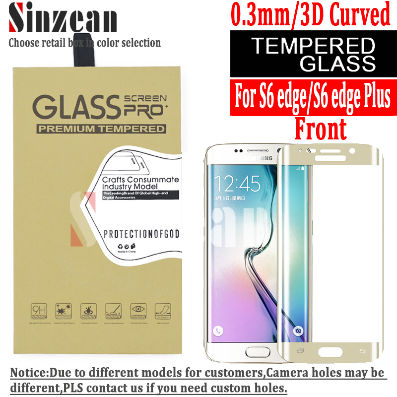 50pcs 3D Curved full screen glass For samsung galaxy S6 edge /s6 edge plus 3D Curved full tempered glass screen protector-in Phone Screen Protectors from Cellphones & Telecommunications    1