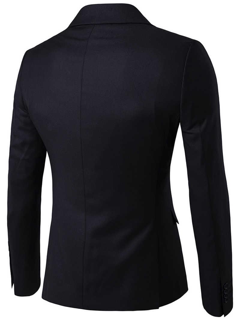 男性の 3 個と黒のエレガントなスーツパンツブランドスリムフィットパーティーフォーマルビジネスドレススーツ男性 terno Masculino