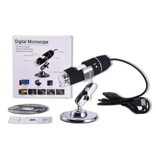 цены на 8 LED USB Digital Microscope 500X 1000X 1600X Endoscope Camera Microscopio Magnifier Electronic Monocular Microscope With Stand  в интернет-магазинах