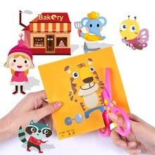 Cartoon Paper Folding Cutting Knutselen Kinderen Art Craft DIY Educational Toys For Children Enfant Kindergarten 120/100pcs