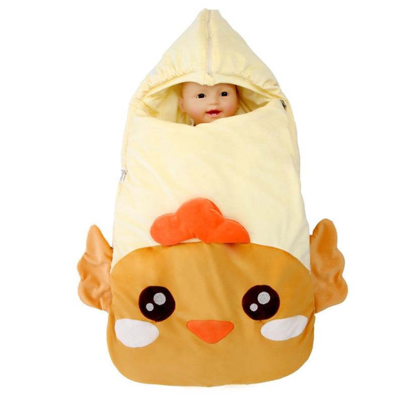 2018 Winter Newborn Sleeping Bag Baby Stroller Swaddle Wrap Blankets Warm Infant Bebe Sleep Sack Envelope blanket  0-12Months
