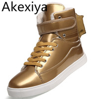 2015 New Men Shoes Golden High Top Men S Casual Shoes British Gold And Silver Winter