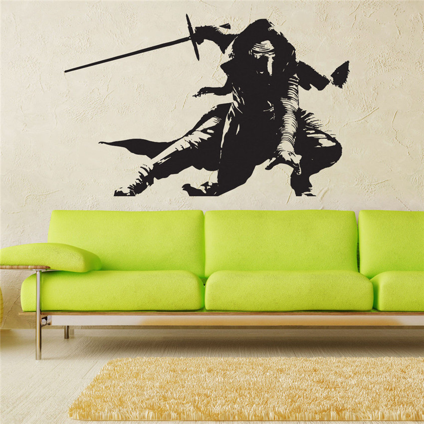 Us 11 89 Star Wars Darth Vader Vinyl Wall Decal Stickers For Kids Rooms Removable Art Decor Quote Poster D690 In From Home