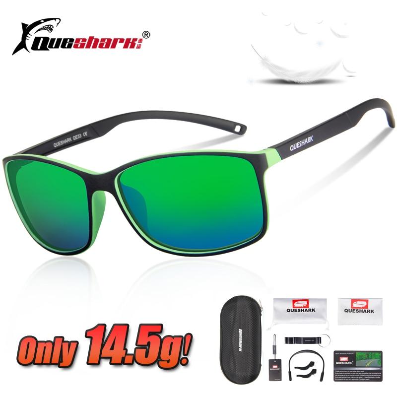 Queshark Ultralight 14.5g Polarized Cycling Glasses Bike Bicycle Goggles Sport Sunglasses Men Women Fishing Eyewear