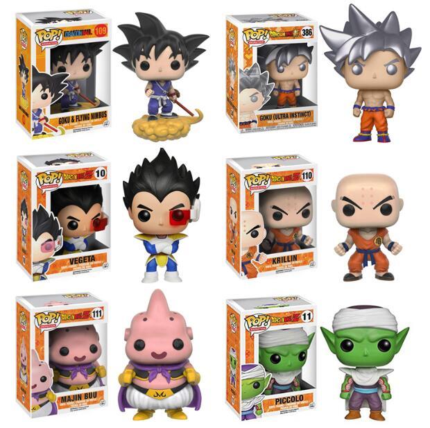 Funko Pop Amine Dragon Ball Son Goku Frieza Action Figure Super Saiyan Collectible Model Kids Toys