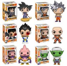 Funko Pop Amine Dragon Ball Son Goku Frieza Action Figure Super Saiyan Collectible Model Kids Toys