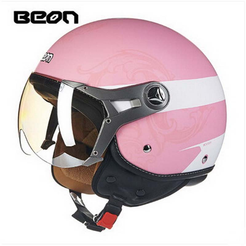 100% Quality Beon B-100hl Motocross Half Face Helmet For Men And Women, Beon 100 Motorcycle Moto Electric Bicycle Safety Headpiece Clear-Cut Texture