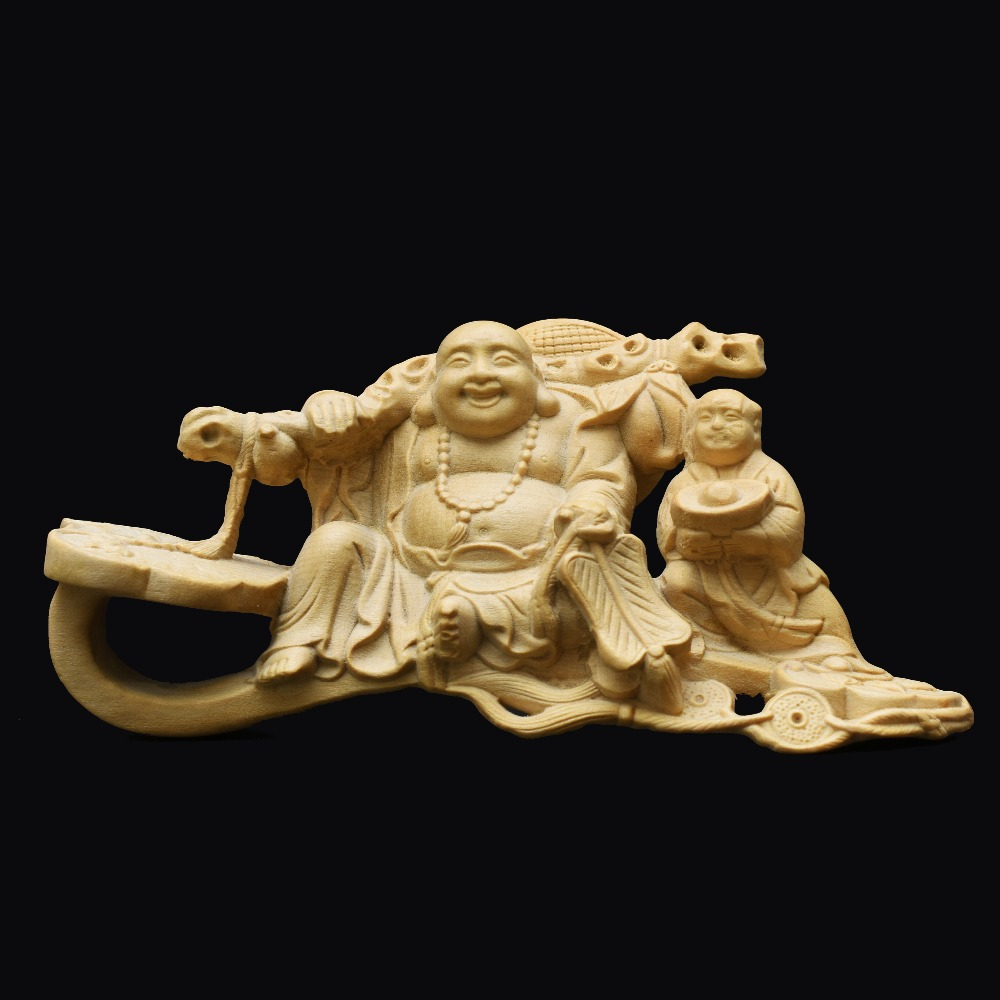 Chinise folk arts  crafts carvings fengshui decoration collection Maitreya Buddha  Home Furnishing Articles  wood craft gift chinese immortals hot new the folk arts and crafts boxwood carving home furnishing articles collection craft gift