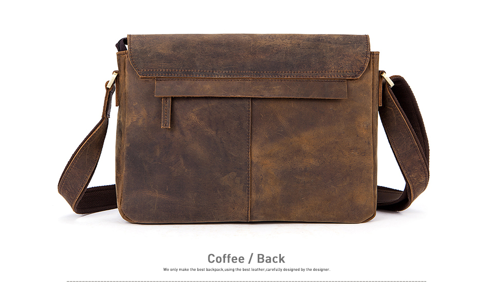 724c71485 Men Briefcase Genuine Leather Bag Crazy Horse Documents Office Bags ...