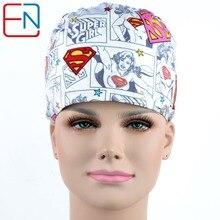 Hennar marca Unisex tampas de dentista Médico cirúrgica caps/chapéus Pet médico cap/chapéus caps matagal