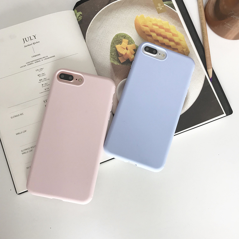 High Quality Candy Full Cover Case for iPhone6 6S Plus X 5 Soft TPU Silicone for iPhone 8 Plus Case back for iPhone 7 Plus Cases
