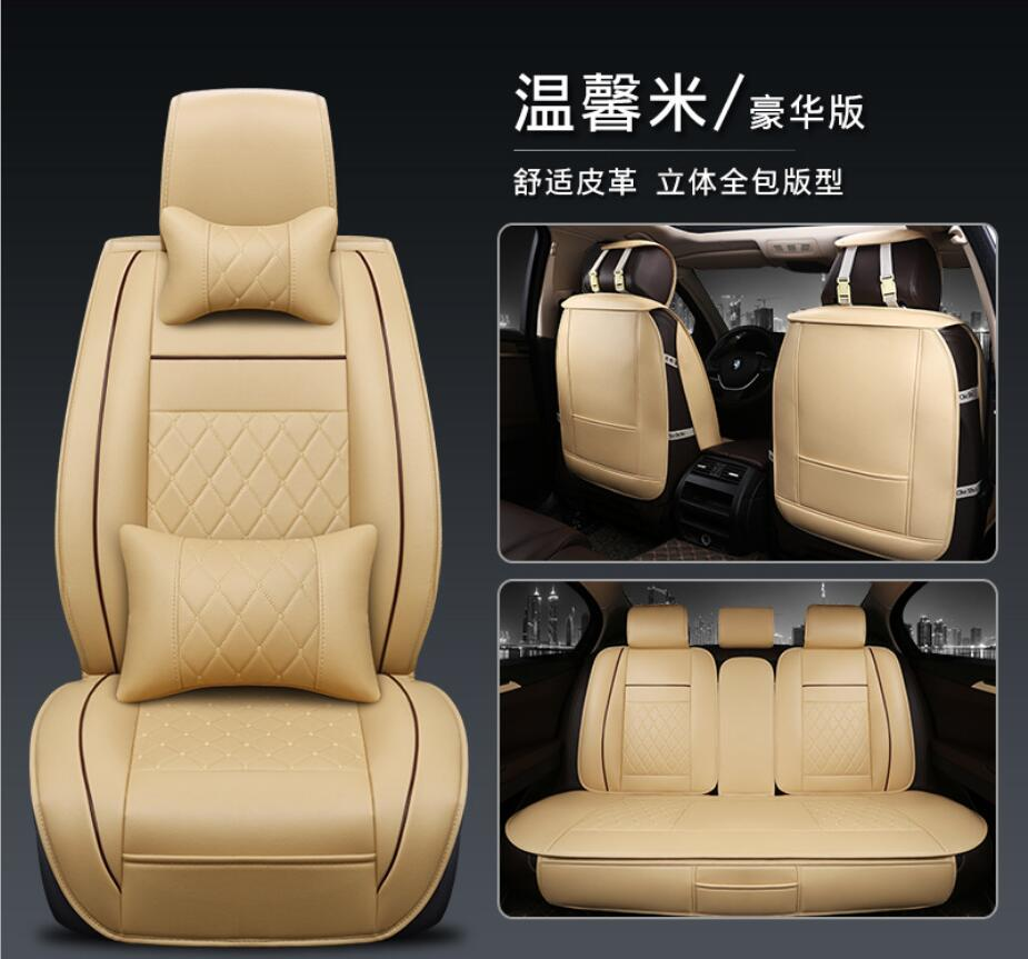 Universal Car Seat Cover PU Leather Auto Front Back Rear Seat Cushion Protector Mat Keep Clean For Most Car Car Interior
