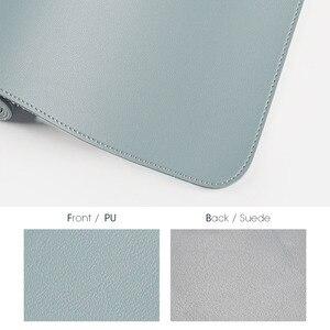 Image 3 - 100X50CM דו צדדי לשימוש משטח עכבר נייד גדול משחקי שטיחי עכבר עמיד למים עור מפוצל שולחן גרנד מחצלת גיימר עבור Dota LOL