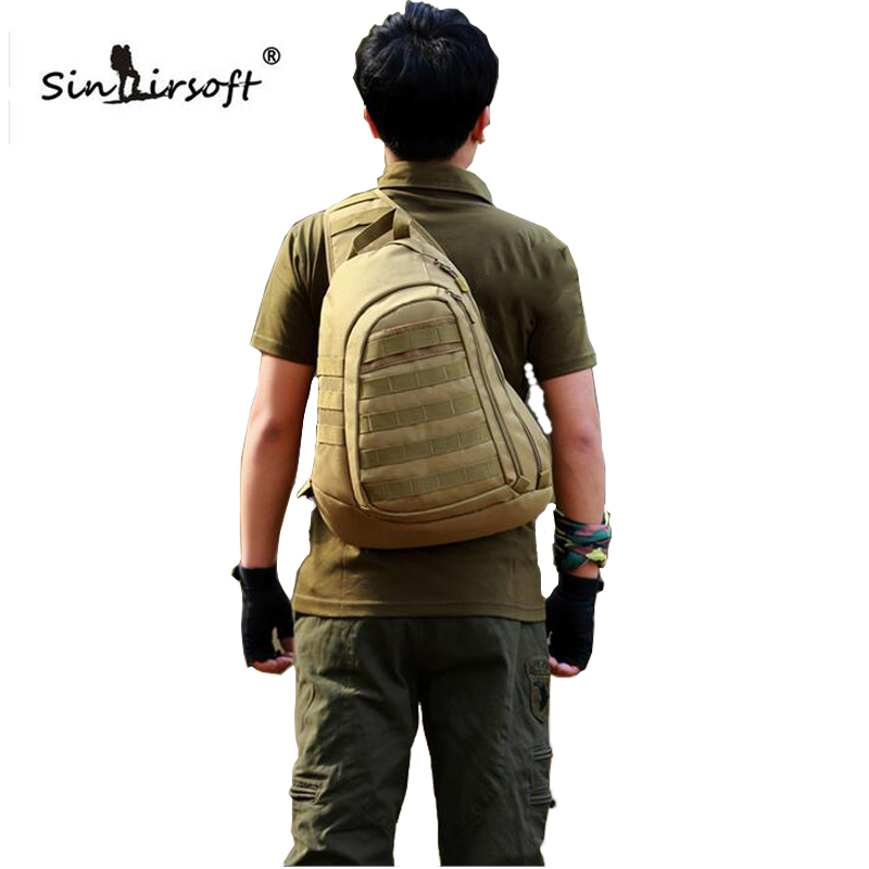 2016 Chest Sling backpack Men's bags One Single Shoulder Man Large Travel Military Backpacks Molle Bags - Guangzhou Lang Yan Jing trade Co. ,Ltd store