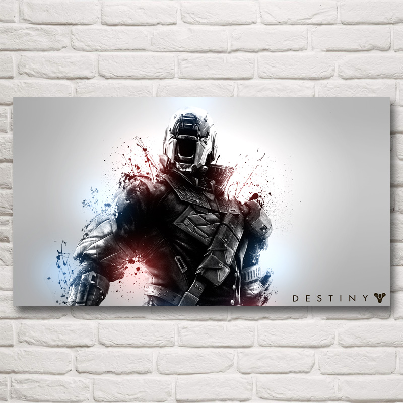 Foocame Destiny Video Game Art Silk Fabric Poster Prints Pictures