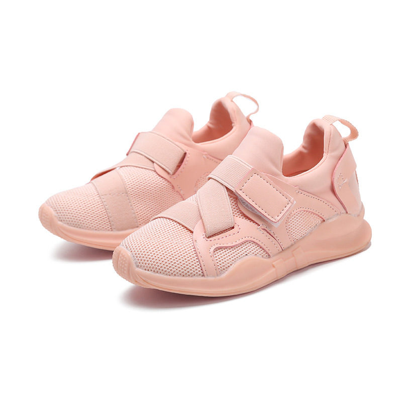 Weixu Autumn Children Tennis Shoes for Kids Sneaker Baby Boys Girls Relaxation Ventilate Pure Color Air Mesh+pu Leather Sneakers