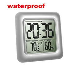 Wholesale prices Digital LCD Electronic Temperature Humidity Meter C/F Thermometer Hygrometer Indoor Outdoor Clock waterproof 40% off