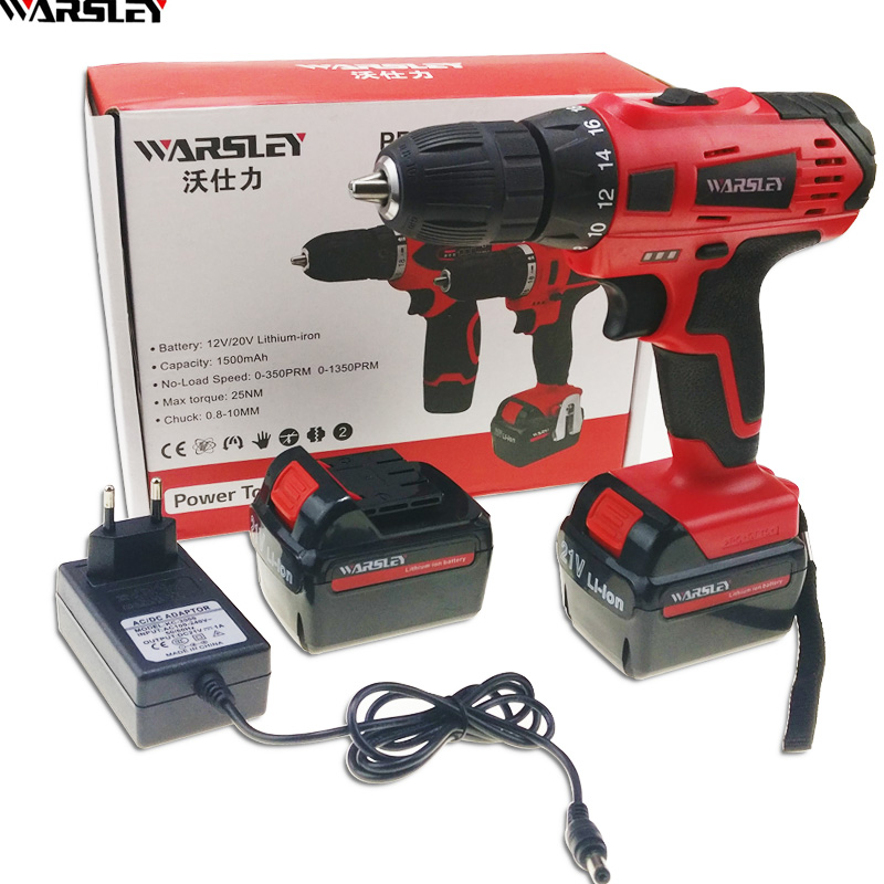 21V power tools Cordless Drill electric Drill Screwdriver 2 Batteries battery drill electric screwdriver Screwdriver
