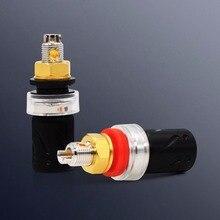 Free shipping 4pcs Viborg VB-401(R) Red Copper Amp Speaker Terminal Binding Post socket
