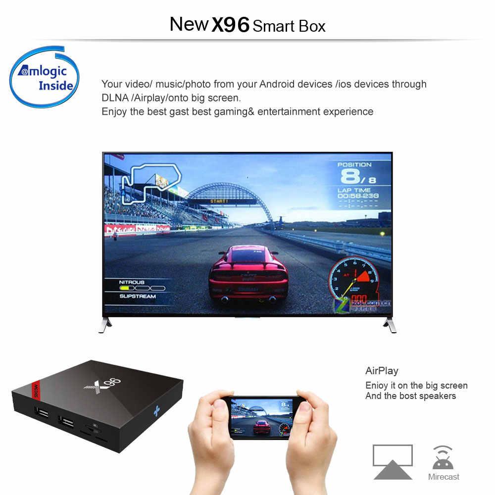 X96 ТВ коробка Android 7,1 мини-коробка ТВ X96W Amlogic S905W ГБ 1 ГБ 8 гб поддержка HD 4k ГГц WiFi 2,4 медиаплеер IP tv X96 мини-набор верхней коробки
