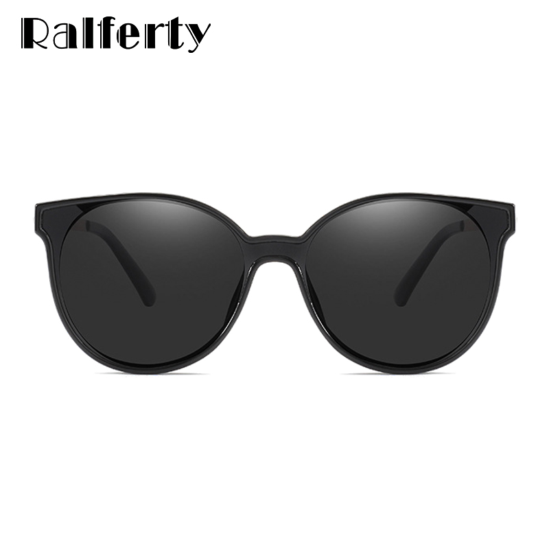 Ralferty Polarized Sunglasses Women Luxury Cat Eye Glasses Black UV400 Protection Oversized Driving Shades gunes gozlugu D201954 in Women 39 s Sunglasses from Apparel Accessories